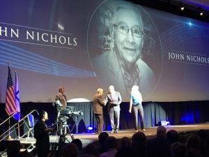 John Nichols receives FPC award on stage