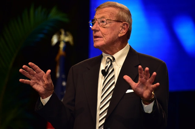College football coaching legend Lou Holtz gives the keynote speech at the Opening Session of the 2017 Texas REALTORS® Conference in Dallas.
